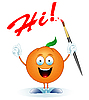 Vector clipart: Orange-artist
