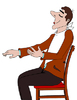 Vector clipart: Seated man