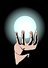 Vector clipart: The hand and the magic sphere
