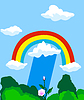 Vector clipart: Naturе background with rainbow