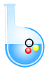 Vector clipart: A flask with balls