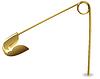 Vector clipart: Gold pin