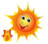 Векторный клипарт: Солнышко с колокольчиком