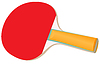 Vector clipart: Racket for table tennis