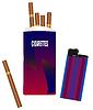 Векторный клипарт: Пачка сигарет с зажигалкой