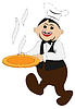 Vector clipart: Cook with dish