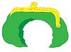 Vector clipart: Cartoon ragged purse