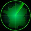 Векторный клипарт: Экран радара с силуэтом Франции