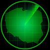 Векторный клипарт: Экран радара с силуэтом Польши