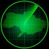 Векторный клипарт: Экран радара с силуэтом Украины