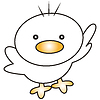 Vector clipart: Cartoon chick