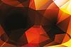 Векторный клипарт: Полигональный фон в темных тонах