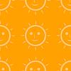 Vector clipart: Seamless pattern of sun