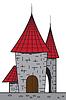 Vector clipart: Cartoon castle