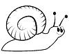 Vector clipart: Cartoon snail