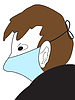 Vector clipart: Man in medical mask