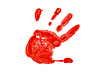 Photo 300 DPI: red imprint of left hand