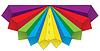 Векторный клипарт: Цветные объемные стрелки