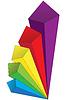 Векторный клипарт: Цветный объемные стрелки