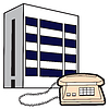 Vector clipart: Phone and building