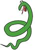 Cartoon green snake