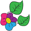 Vector clipart: tri-color shamrock flower
