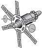 Векторный клипарт: Спутник космической связи