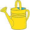 Векторный клипарт: Желтыая садовая лейка