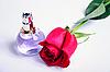 ID 3061515 | Perfumy i róża na białym tle | Foto stockowe wysokiej rozdzielczości | KLIPARTO