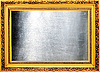 Golden frame with silver metallic plate | Stock Foto