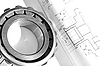 Photo 300 DPI: Mechanical drawing and bearing