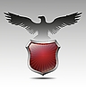 Vector clipart: eagle over heraldic shield