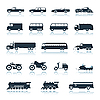 Vector clipart: Icons of vehicles