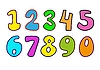 Vector clipart: Decorative numbers