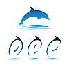 Vector clipart: Font Dolphin DEF