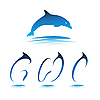 Vector clipart: Font Dolphin GHI