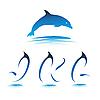 Vector clipart: Font Dolphin JKL