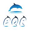 Vector clipart: Font Dolphin PQR