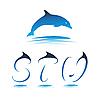 Vector clipart: Font Dolphin STU