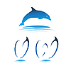 Vector clipart: Font Dolphin VW