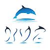 Vector clipart: Font Dolphin XYZ