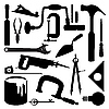 Tools silhouettes | Stock Vector Graphics