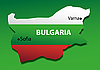 Vector clipart: Bulgaria against national colours