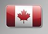 Vector clipart: Flag of Canada as button