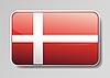 Vector clipart: Flag of Denmark as button