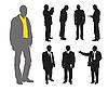 ID 3056044 | Silhouetten von Männern | Stock Vektorgrafik | CLIPARTO