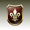 Vector clipart: coat of arms with Fleur-de-lis