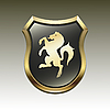 Vector clipart: Coat of arms with horse