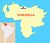 Vector clipart: Map of Venezuela