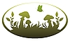 Vector clipart: Vignette with mushrooms